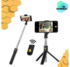 K07 / K10 Bluetooth Selfie Stick Integrated 3 in 1 Monopod Tripod for IOS and Android [Ready Stock]