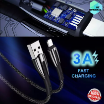 Remax RC-162 Armor Series 3A Fast Charging 1 Meter Data Woven Cable For Type C / iOS Lightning