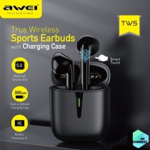 Awei T21 TWS Wireless Earphone Bluetooth 5.0 Mini Earbuds Fast Charging in-Ear Headset Touch Contral Gaming Earphones