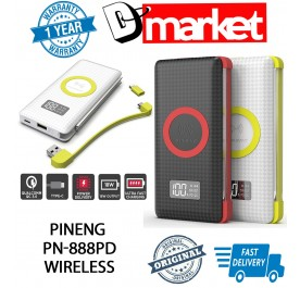 """New Arrival"" Original Pineng PN-888PD 10000mah Power Bank Wireless Power Bank"