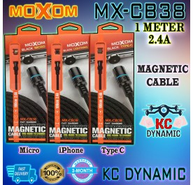Moxom MX-CB38 Magnetic Cable for Micro Iphone Type-C MX CB38 - KC DYNAMIC
