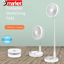 P10 Foldable Stretching FAN Rechargeable Stand Fan Washable Storable FAN with 7200mah battery