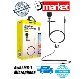 Original Awei MK-1 Lavalier Microphone for Android Iphone IOS Live recorder