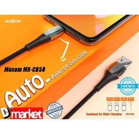 Moxom MX-CB58 Auto Power Off USB cable for Micro Iphone Type-C
