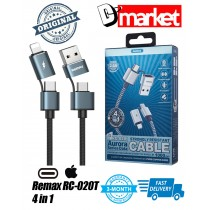 Original Remax RC-020T 4 in 1 USB Cable Type-C Iphone USB